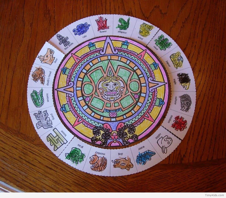 Aztec Crafts For Kids Aztec Calendar Calendar Craft Kids Calendar