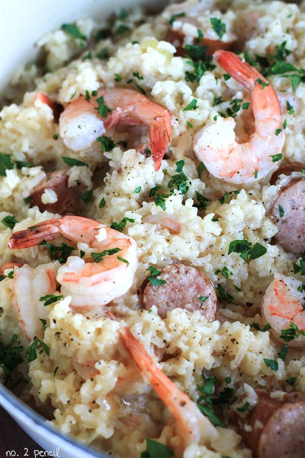 One Pot Sausage And Shrimp With Rice Cooking Recipes
