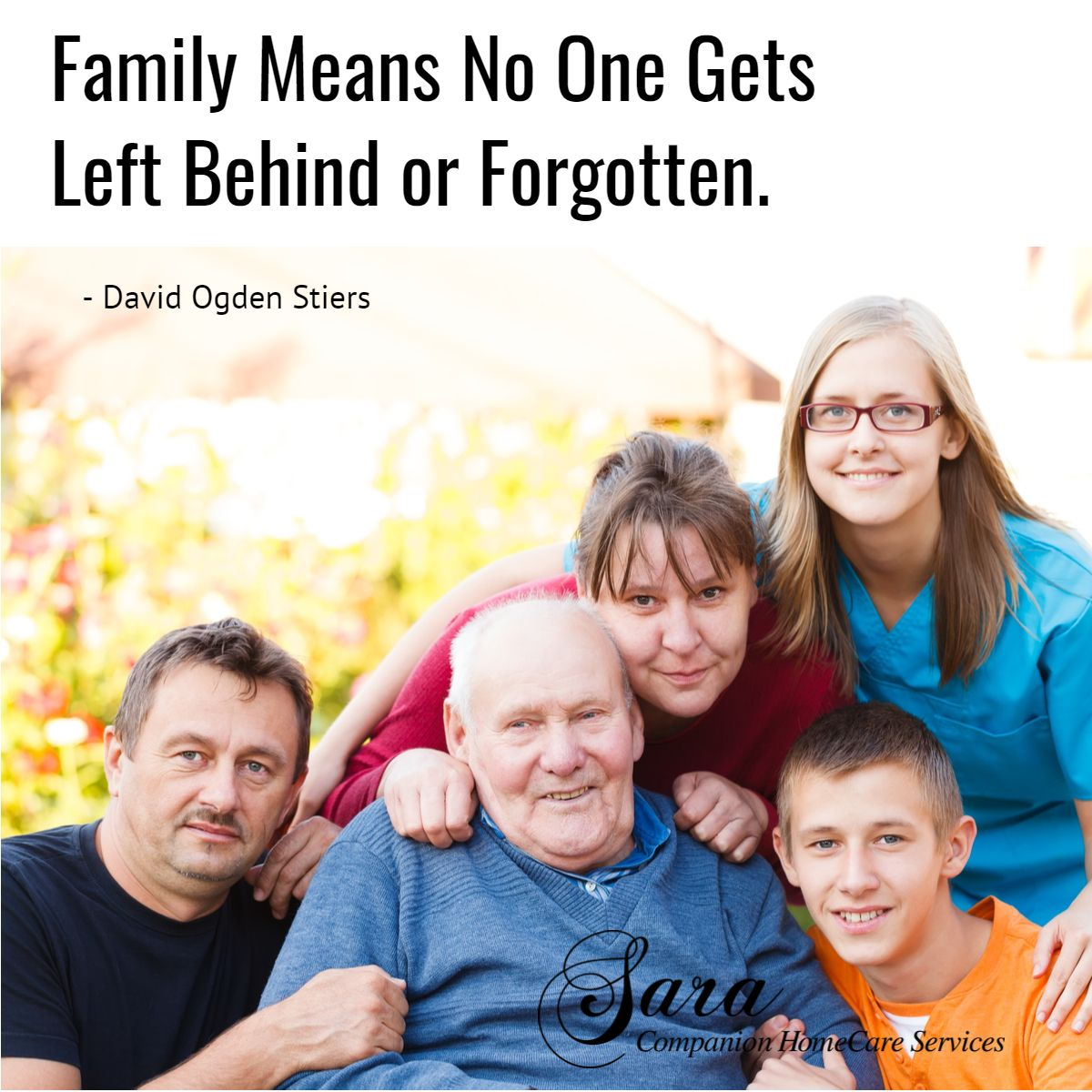 Family and friends make our lives special, so tet them