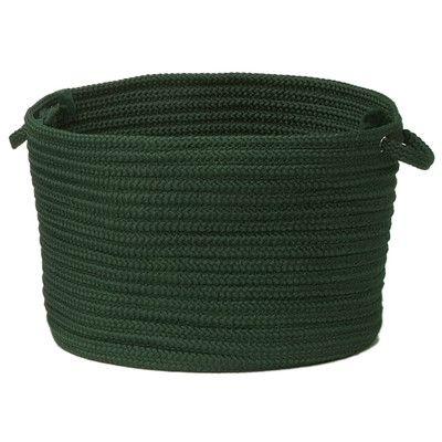 "Charlton Home Utility Basket Size: 14"" x 10"", Color: Dark Green"
