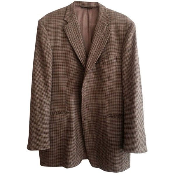 Pre-owned Burberry Men's Lite Brown Blazer ($60) ❤ liked on Polyvore featuring outerwear, jackets, blazers, brown, brown blazer, burberry, burberry blazer, brown jacket and burberry jacket