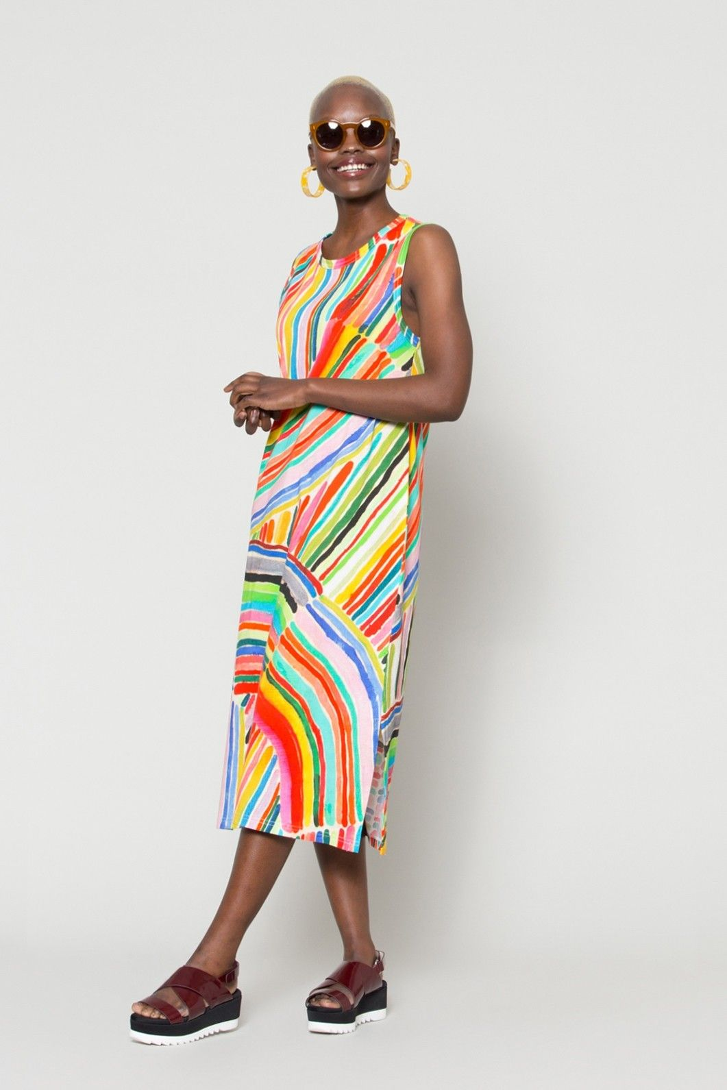 4dc359708e Gorman Online    End Of The Rainbow Tank Jersey Dress - Kindah Khalidy +  Gorman
