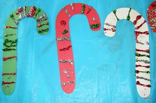 Tippytoe Crafts: Glittery Candy Canes