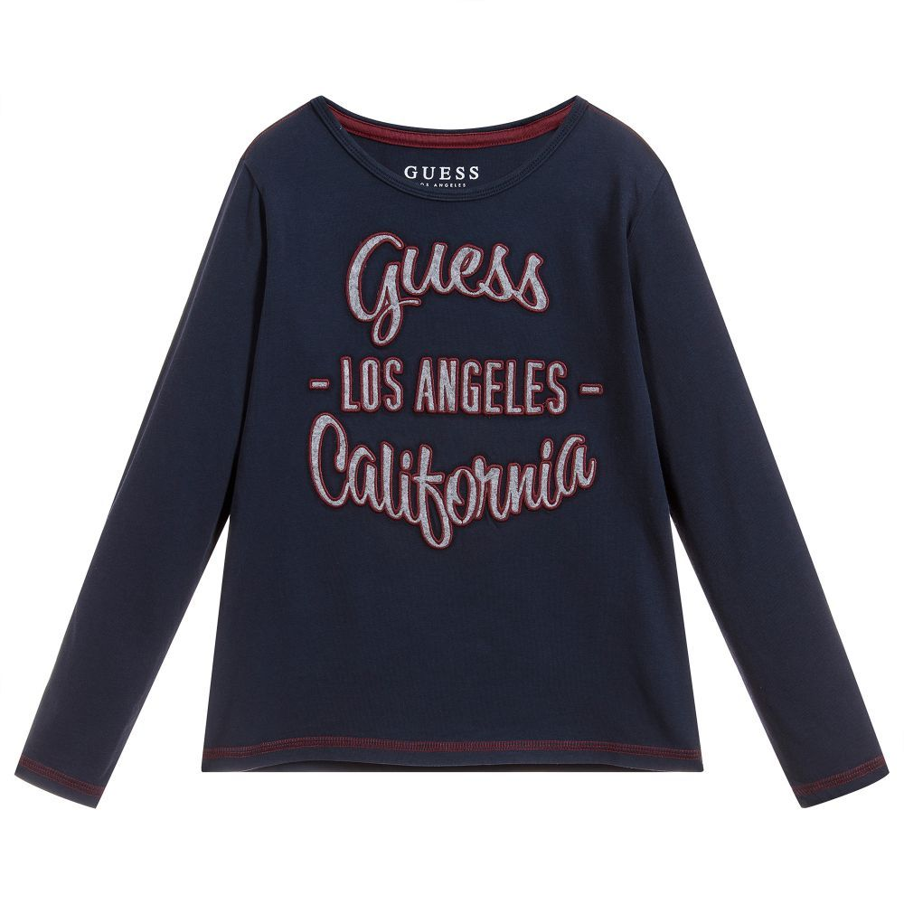 dc7979b2d7 Boys Navy Blue Cotton Top for Boy by Guess. Discover the latest designer  Tops for kids online