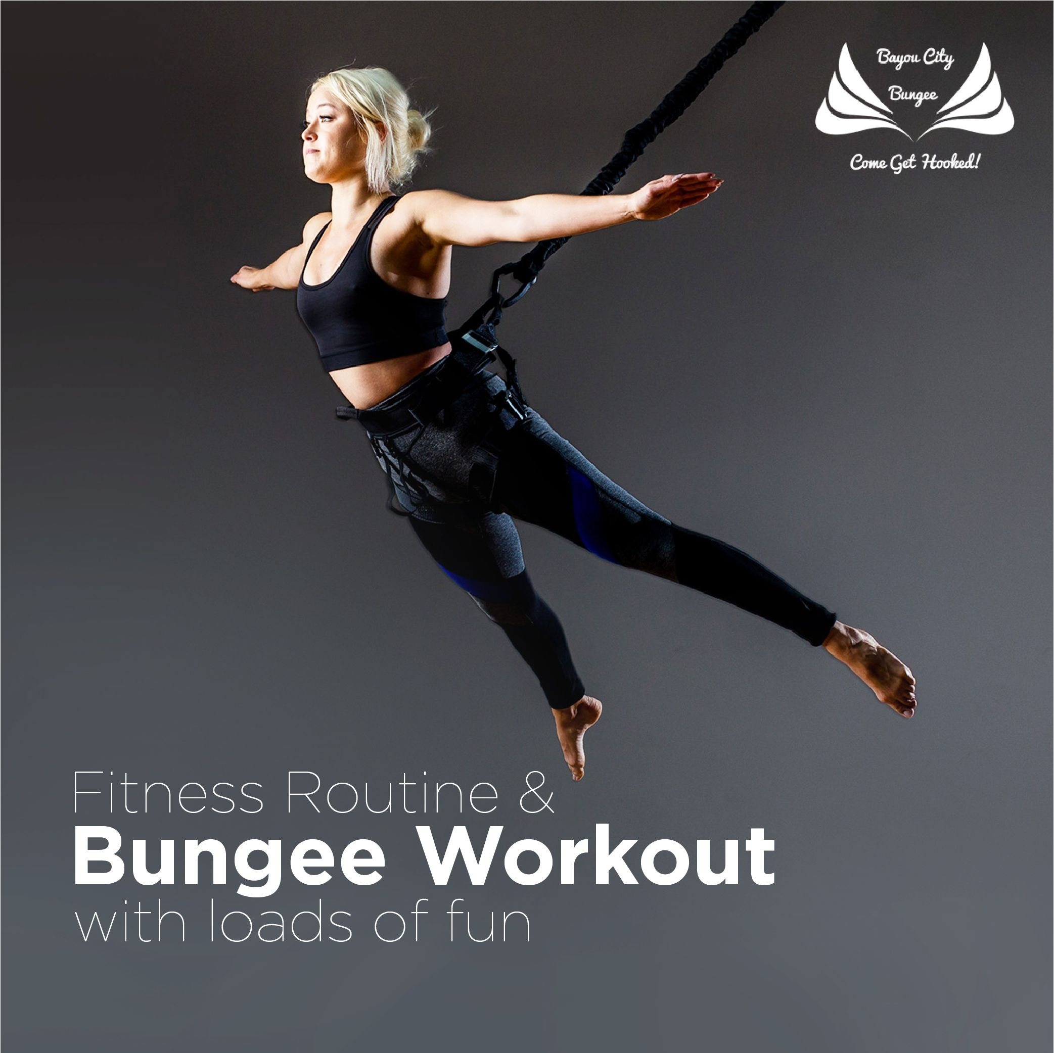 Fitness Routine Bungee Workout With Loads Of Fun Bungee Workout Workout Routine Fun Workouts