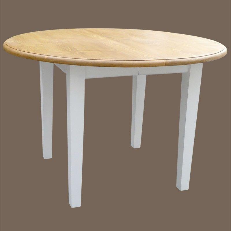 table ronde 2 allonges en pin massif