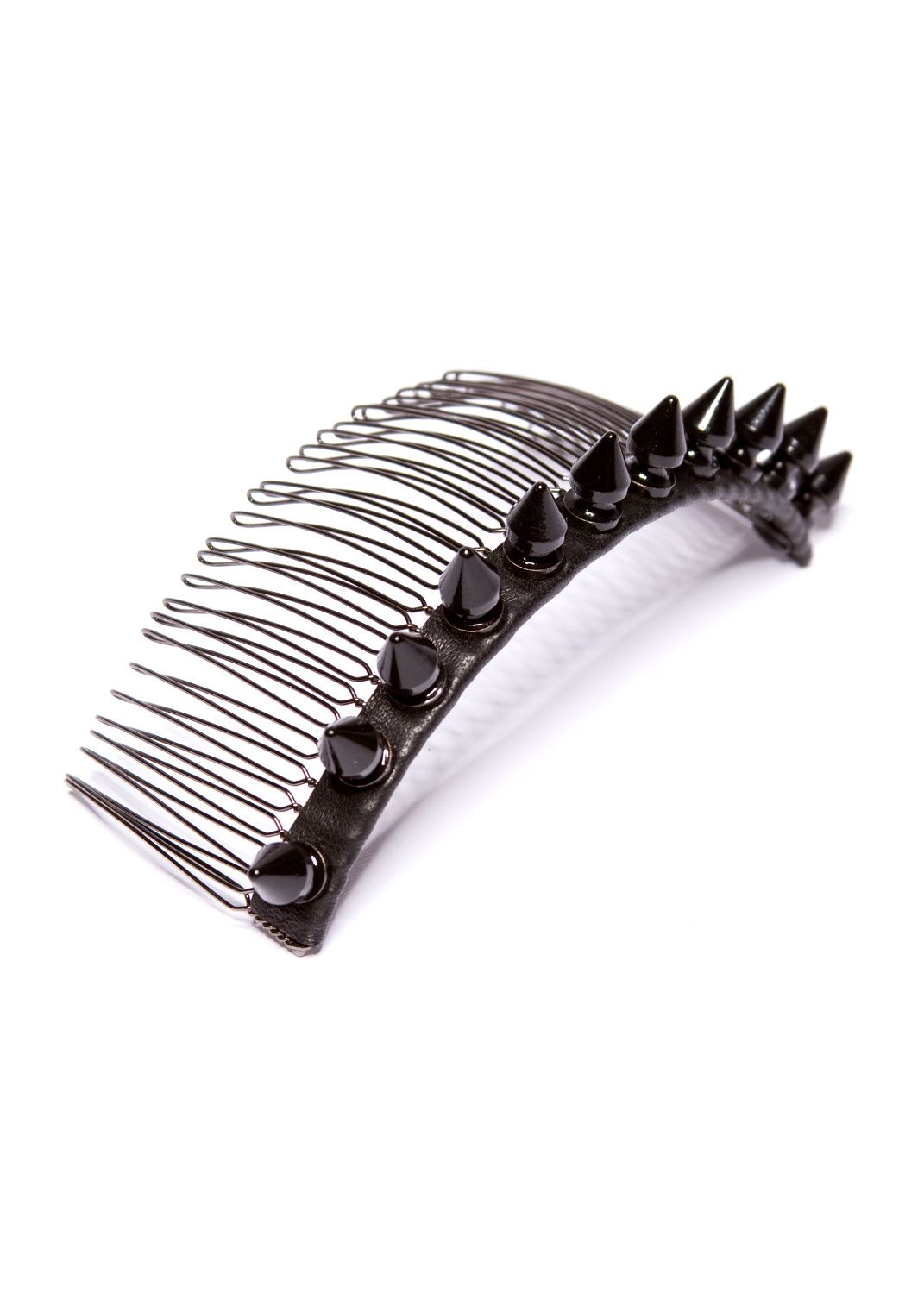 Spike Hair Comb - Black. $85.00, via Etsy.