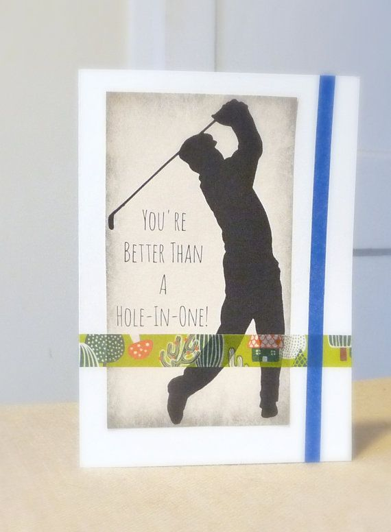 Golfer greeting card hole in one card masculine card card for dad golfer greeting card hole in one card masculine by tundraandtaiga m4hsunfo Images
