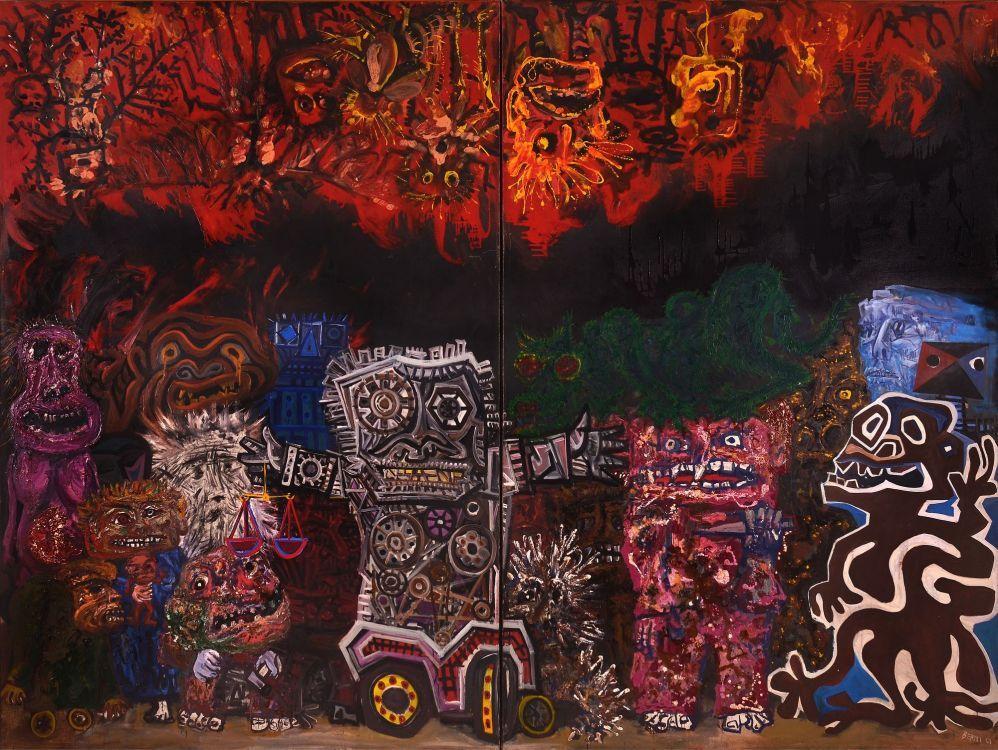 Pesadilla De Los Injustos (La Conspiración Del Mundo De Juanito Laguna  Trastorna El Sueño De Los Injustos) - Berni, Antonio   Arte, Bellas artes,  Arte europeo