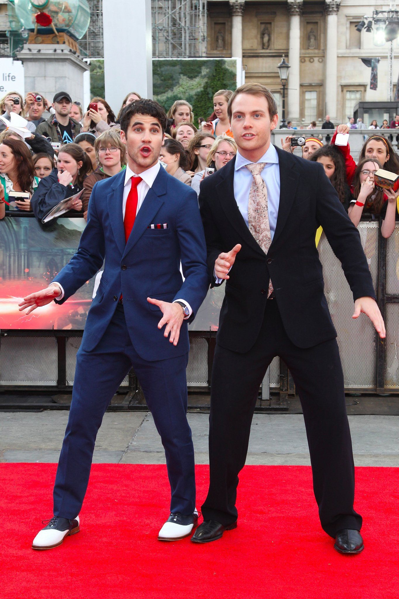 darren criss & joe walker at the London premiere of Harry Potter and the Deathly Hallows, part 2