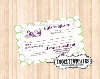 Free Scentsy Card Template Google Search In 2019