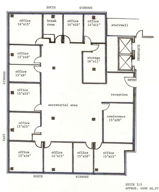 Office space floor plans google search home for Office floor plan samples