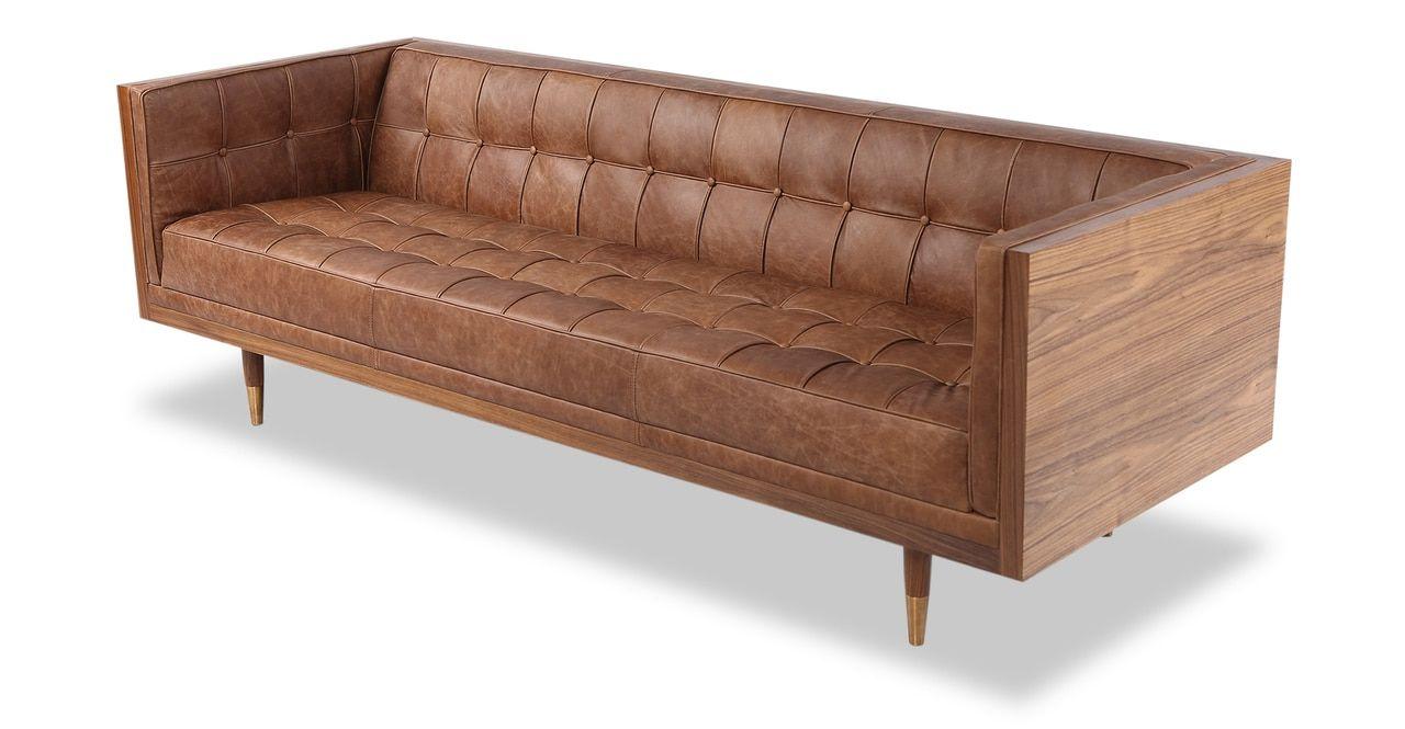 Box Sofa Vintage Leather Sofa Vintage Sofa Brown Leather Sofa