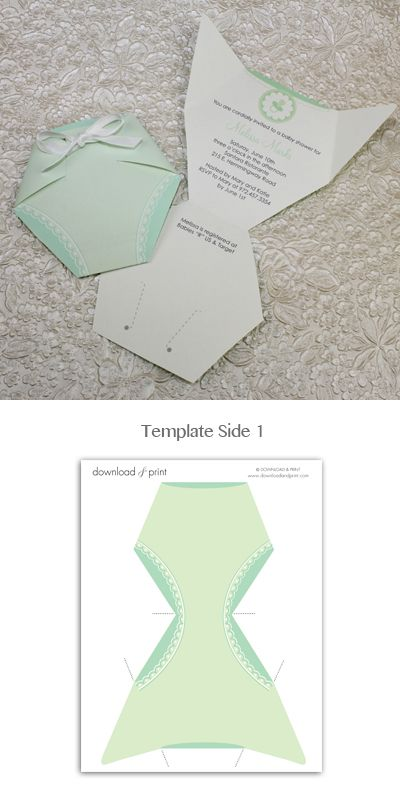 baby shower invitation template green diaper baby showers diy baby