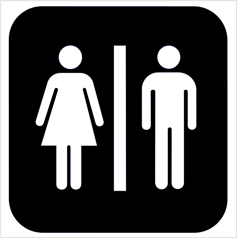 Place on bathroom door HAVE Silhouette Pinterest Bathroom