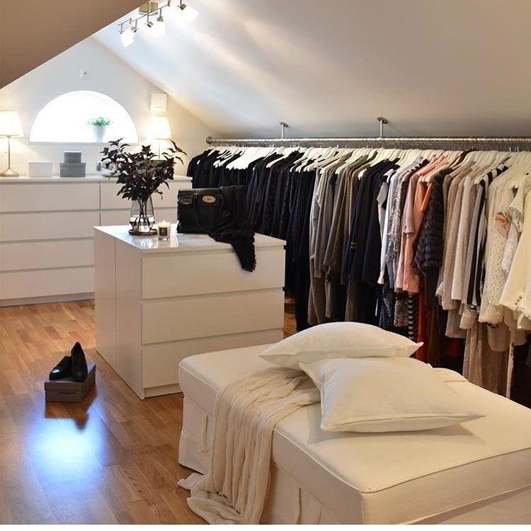 Photo From Https Www Instagram Com Hem Inspiration Follow For Mor Attic Bedroom Designs Attic Closet Closet Bedroom