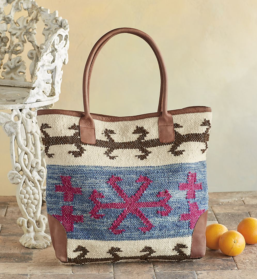 Elsa Woven Tote - handwoven bag is an inspired combination of Native American techniques and peaceful Nordic design.