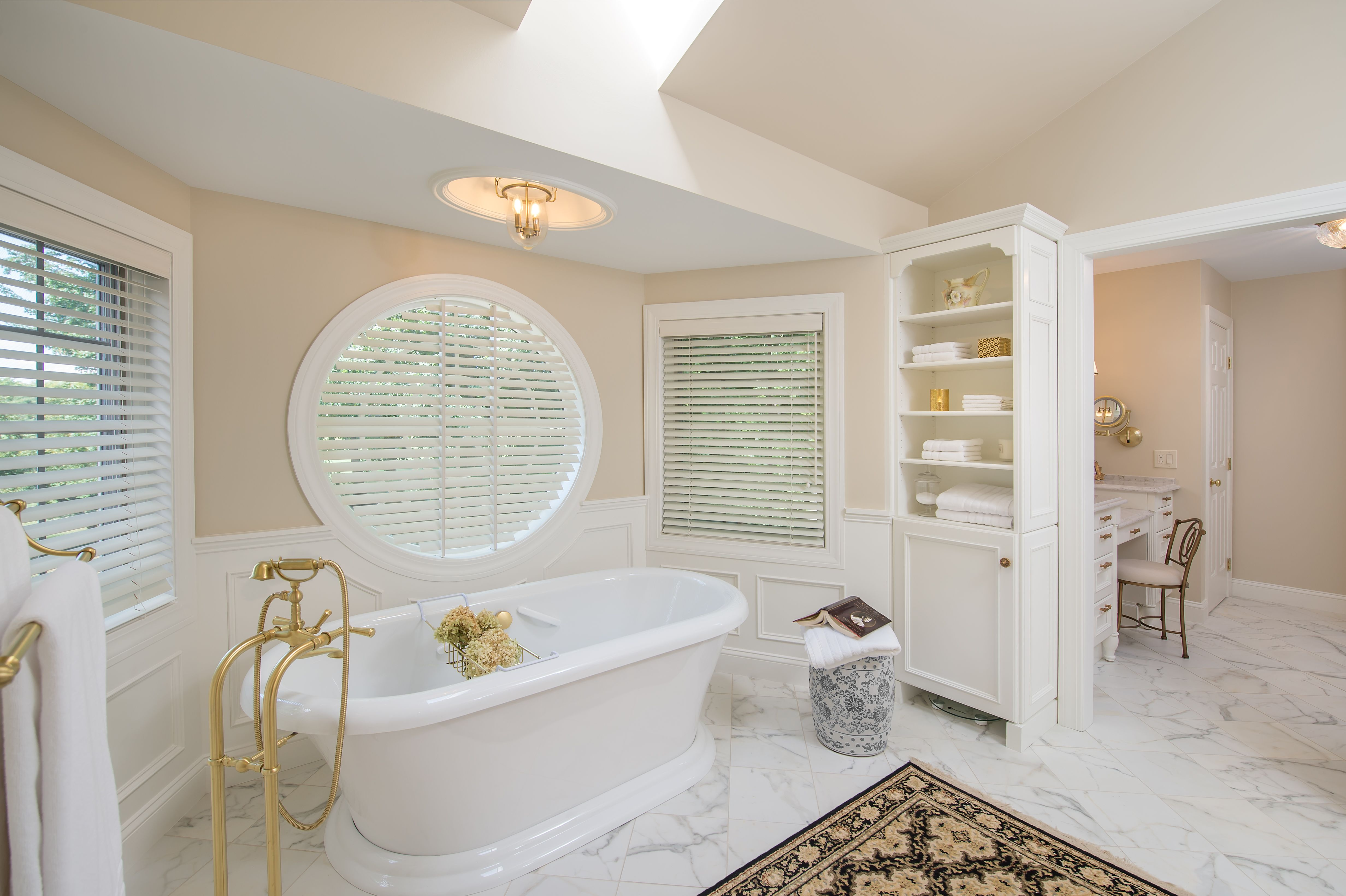 Luxury bathroom design makeover in Loudonville, NY by award winning ...
