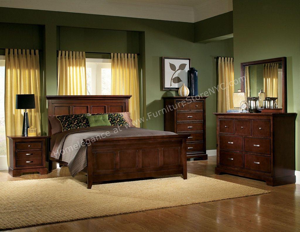 Cherry wood bedroom furniture interior design ideas for bedrooms