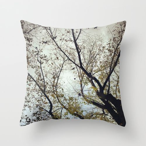 Tree of Birds Throw Pillow by Factory23 | Society6