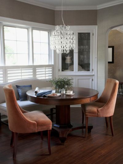 Solving For A Small Dining Room Round Table Comfy Chairs Corner Cabinet