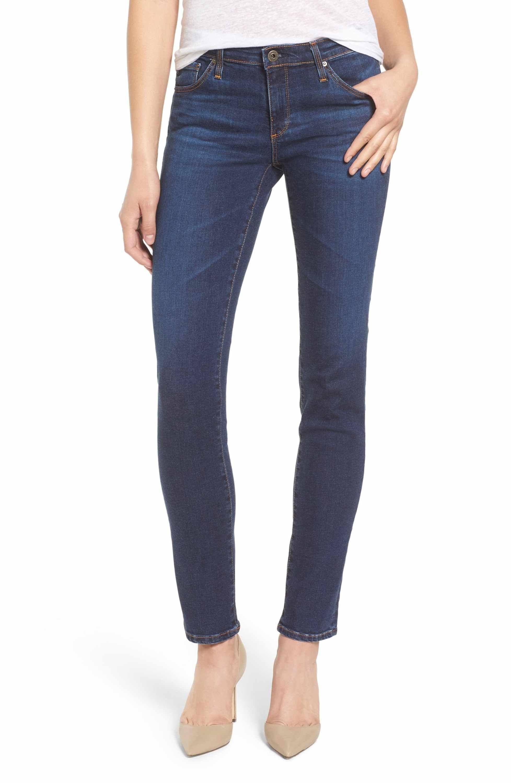 c9a2fda2931de7 Main Image - AG The Stilt Cigarette Leg Jeans (Workroom) Blue Denim Jeans,