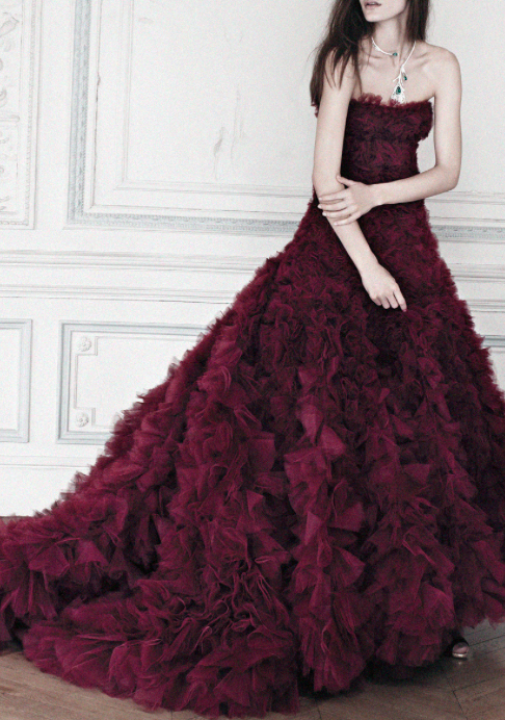 Coloured Wedding Gowns Oxblood Style Inspiration LANE Instagram The Lane