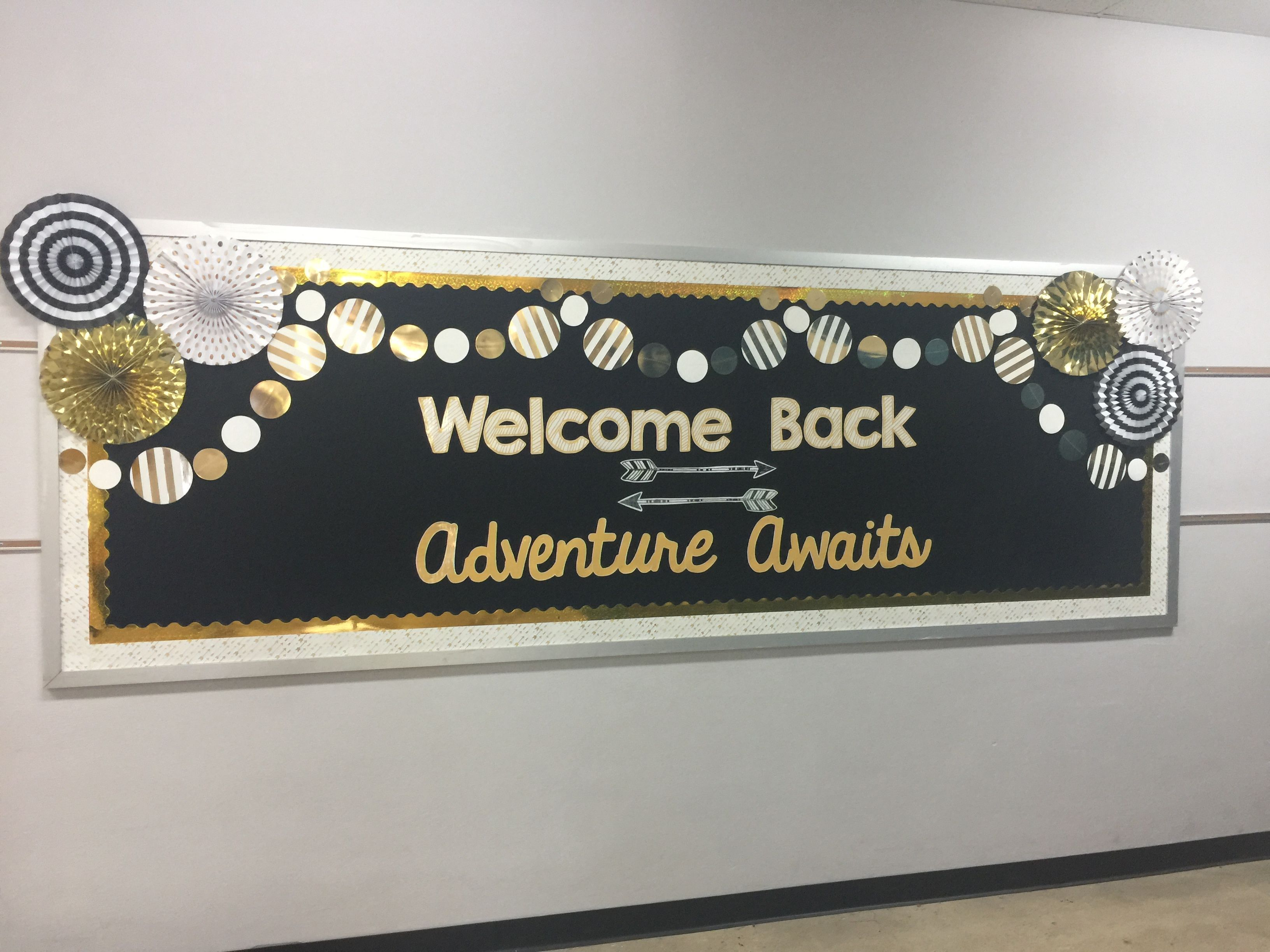 Welcome Back Adventure Awaits Library Bulletin Board
