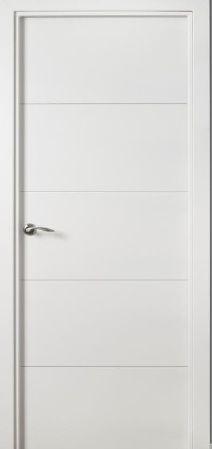 Puerta interior de lacada blanca 148 distribuci n a for Puertas blancas lisas interior