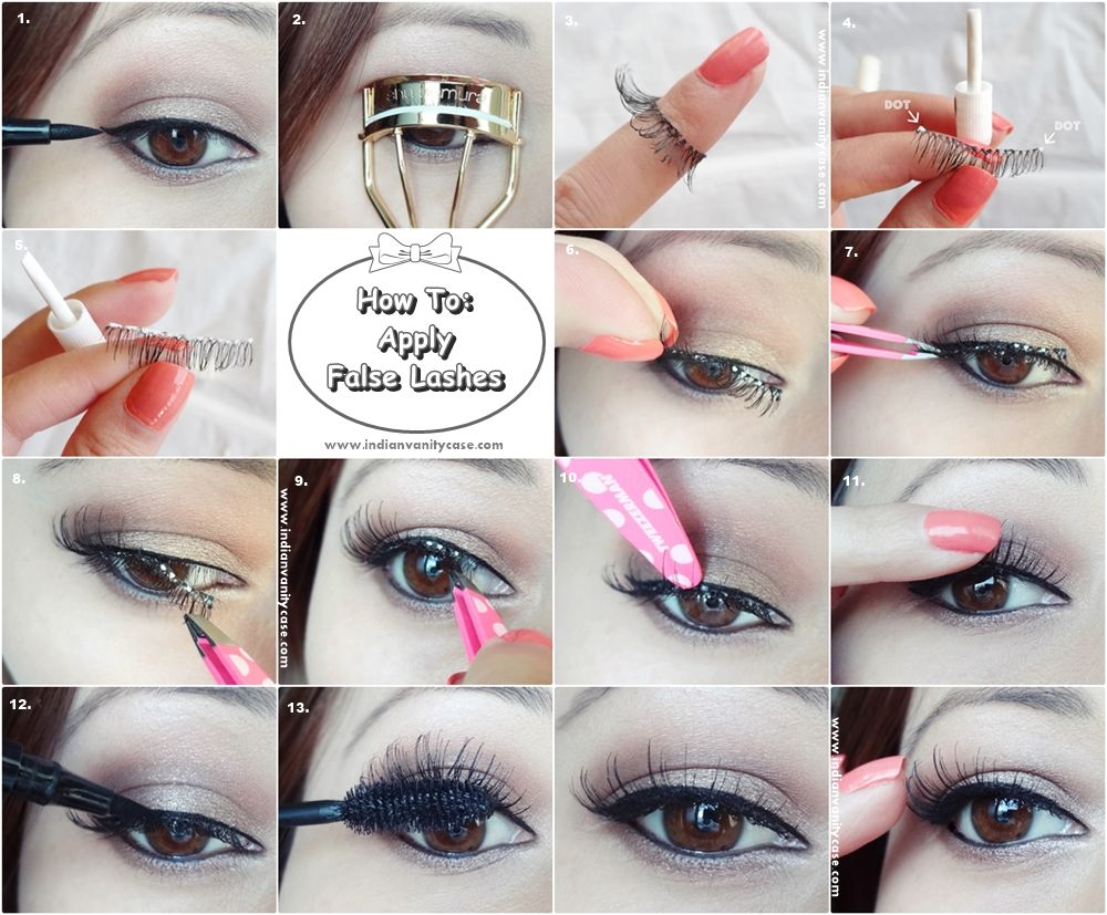 False Lashes Application Takes Just 3 Simple Steps