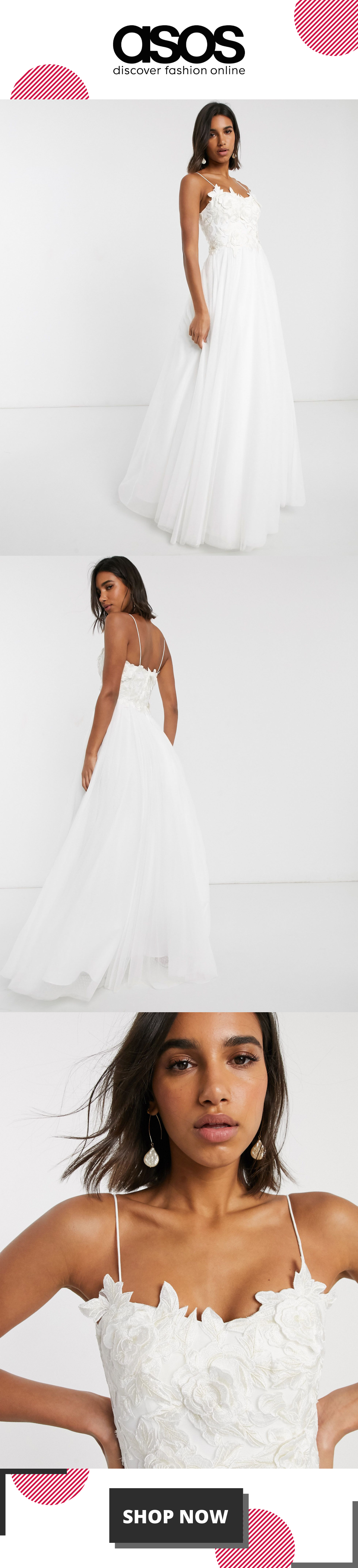 ASOS EDITION wedding dress with 3D embroidered bodice