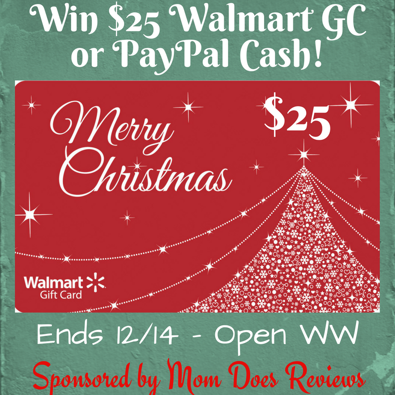 Win $25 Walmart GC or PayPal CASH! #holidaygiveaway WW 12/14