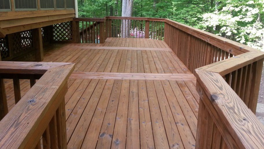 Dont clean your wood deck with bleach wood deck