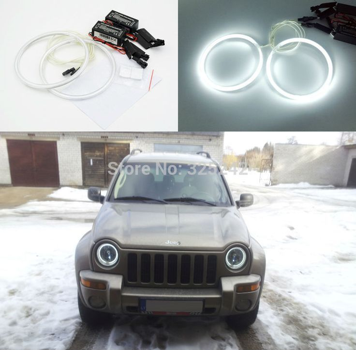 For Jeep Liberty Kj 2002 2003 2004 Excellent Angel Eyes Ultra Bright Illumination Ccfl Angel Eyes Kit Halo Ring Ad Jeep Liberty Cool Jeeps Jeep Wj