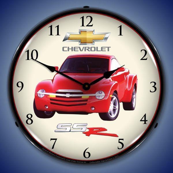 Chevrolet Ssr Lighted Wall Clock 14 X 14 Inches Wall Clock Light Led Clock Clock