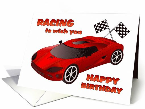 Race Car Birthday Card Heysportz E Sportcards Pinterest