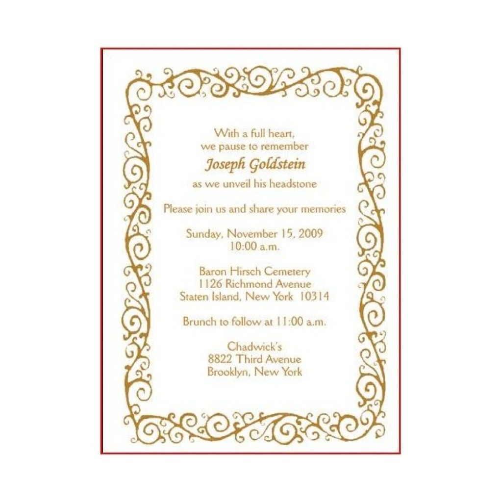 Image Result For Unveiling Template Invitation Card Sample Wedding Invitation Card Wording Invitations