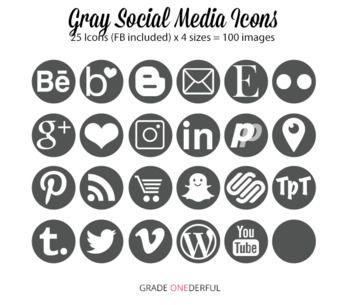 Dark Gray Social Media Icons Social Media Icons Media Icon Social Media Buttons