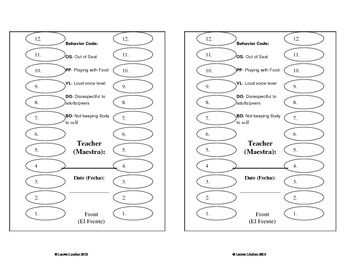 lunch seating chart with behavior comments school lunch ideas