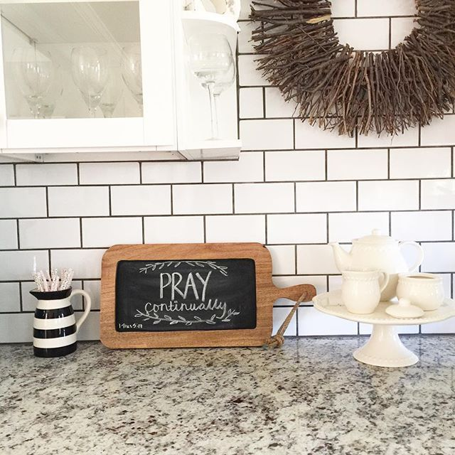 Thankful for this reminder on our coffee bar❤️ I am still fighting this sickness! Praying for fast healing and energy to get back to daily life and my projects of course I am glad I have lots of great books to read and Netflix  #homedesign #homedecor #interiordecor #kitchen #white #interior #kitchendesign #coffeebar #mypotterybarn #target #simple