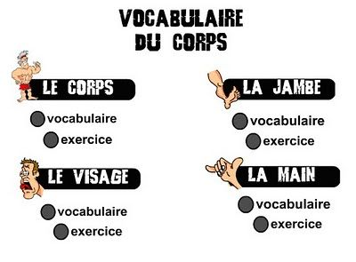 le-corps. - picture, word, speech - human body vocabulary