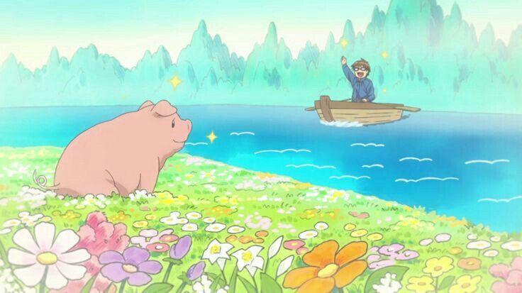 Hachiken Yuugo Pork Bowl Boat Heaven Funny Silver Spoon With