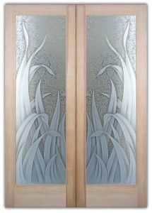 Etched Gl Interior Door Doors With Frosted Reeds Or Inserts Brighten The Look A Beautiful
