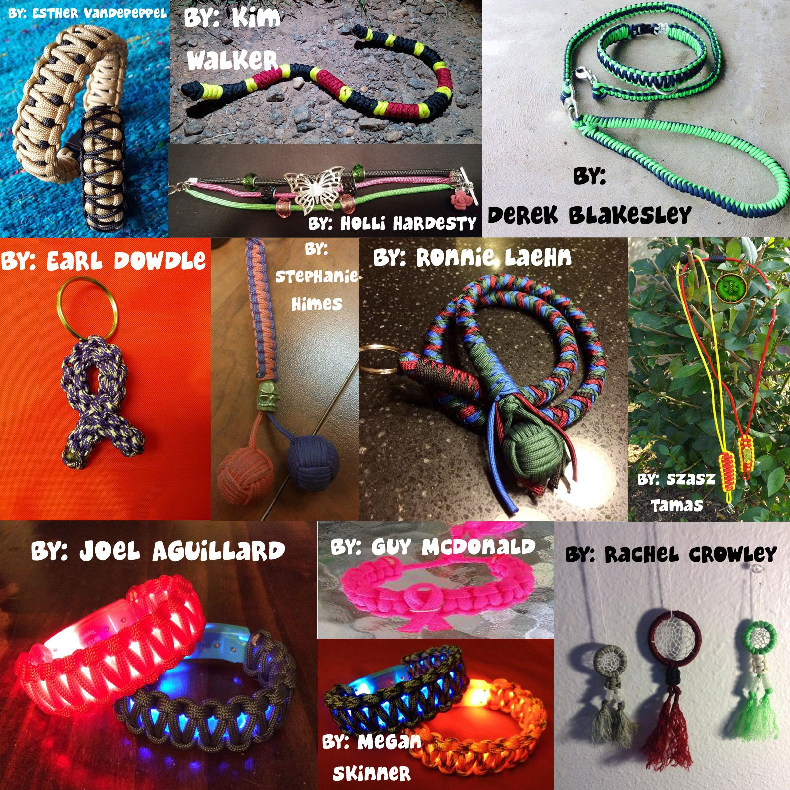 """BRAND NEW #MondayMedley!! *To be a part of a future """"Medley,"""" simply send us your pictures via FB message or wallpost! #HappyCording, all! #paracord #mondaymedley #prepper #survival #craft #diy #knotting #tying"""