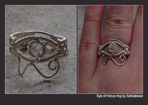 Eye of Horus ring by bodaszilvia | wire wrapped rings | Pinterest ...