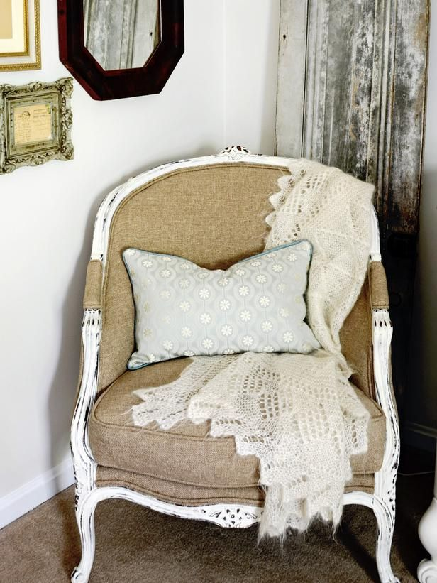 Liven Up A Bedroom With Thrifty Finds Small Chair For