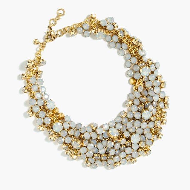 Crystal jumble necklace