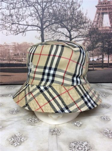 62ce5fce3a7 Auth 300 Vintage Burberry Nova Check Crusher Bucket Rain Hat Reversible