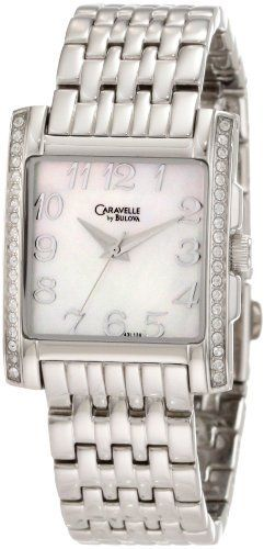 Caravelle by Bulova Women's 43L138 Crystal Watch Caravelle by Bulova. $86.39. Water resistant to 30 meters. Quartz movement. White Mother-Of-Pearl dial. Stainless steel case and bracelet. Curved mineral crystal. Save 28%!