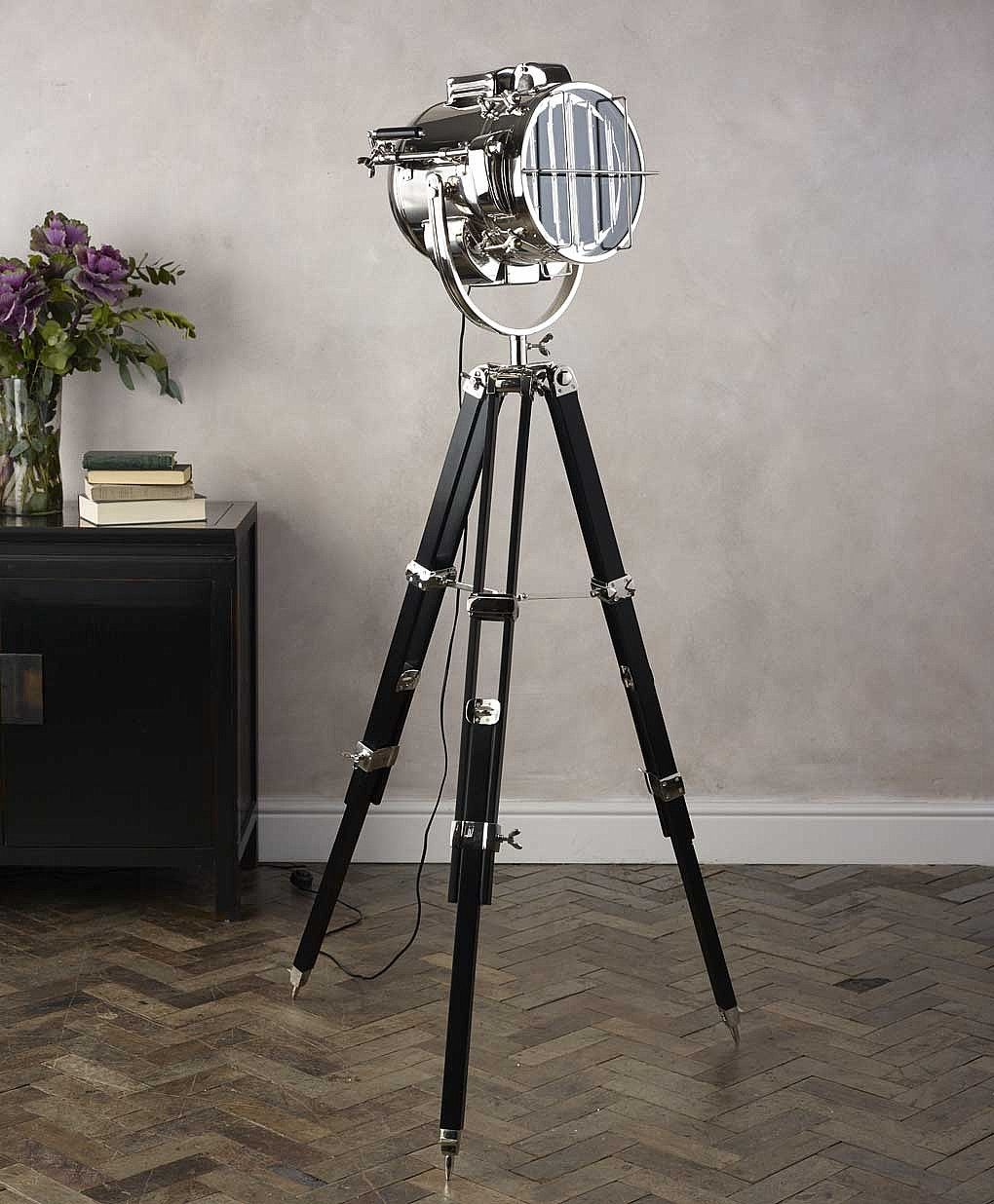 triton design tripod floor lamp from lombok